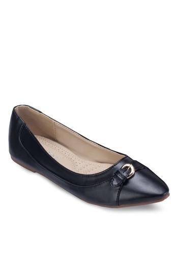 扣環飾帶平底鞋, 女zalora taiwan 時尚購物網鞋, 鞋