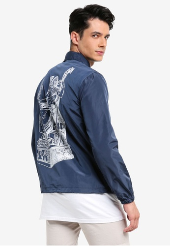 Pestle & Mortar blue and navy All Father Coaches Jacket CD740AABF4506CGS_1