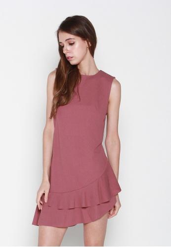 JOVET pink Slanted Hem Dress 1782FAA6DD62EEGS_1