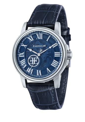 Thomas Earnshaw blue Thomas Earnshaw Men's Genuine Leather Watch - ES-0028-06 43F05AC9545C5DGS_1