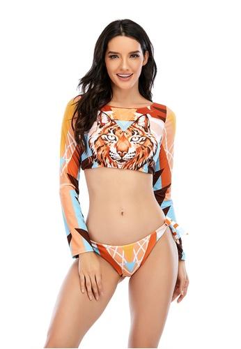 LYCKA multi LKL7073b-European Style Lady Bikini Set-Multi 2B11CUSFA41EE8GS_1