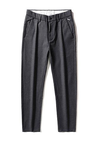 Twenty Eight Shoes grey VANSA Simple Stretch Stripes Casual Pants   VCM-P18008 EE08FAAD801DB2GS_1
