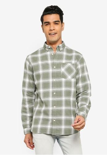 Jack & Jones green Layton Long Sleeves Shirt B968AAAF2351D2GS_1