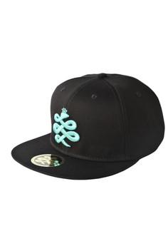 Baem Korea Baby Blue Logo Snapback Black K-Pop Fashion Cap