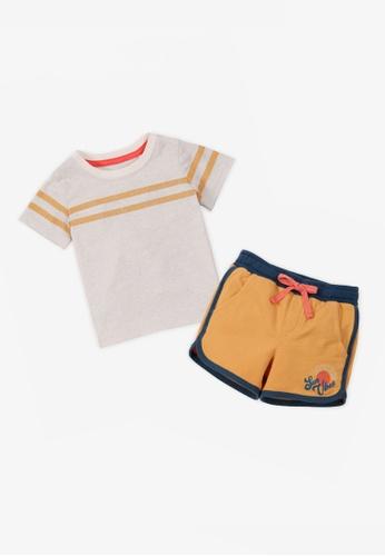 Gingersnaps multi Baby Boys Stripe Tshirt And Shorts Set B79AAKA4C376AFGS_1