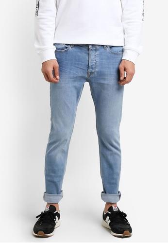 Topman 藍色 窄管牛仔褲 TO413AA0R9T1MY_1