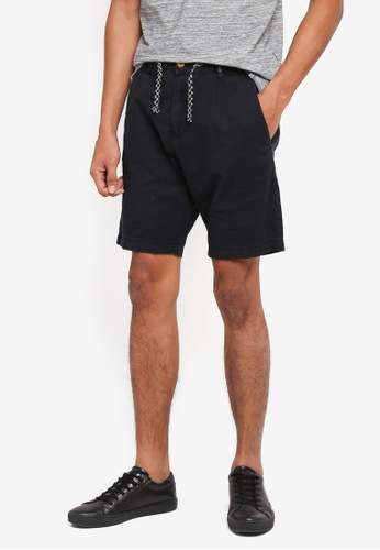 Indicode Jeans black Bowmanville Drawstring Shorts 1E673AA8A161E7GS_1
