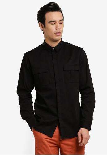 ZALORA black Military Shirt 32510AA86AA481GS_1