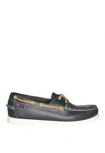 Sebago green Men's Docksides Boat Shoes SE328SH0JV6TPH_1