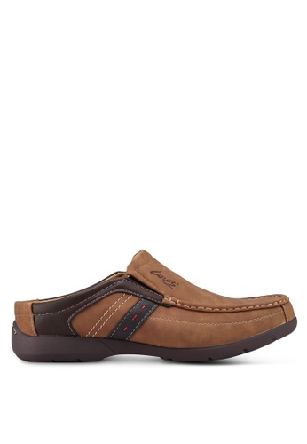 Louis Cuppers brown Casual Open Back Slip On Shoes 00135SHC8889F7GS_1