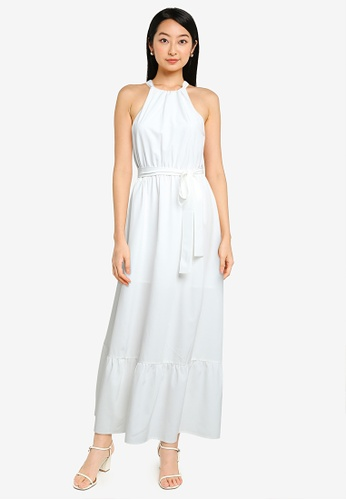 ZALORA BASICS white Halter Neck Tiered Dress A1777AA6AE60E2GS_1