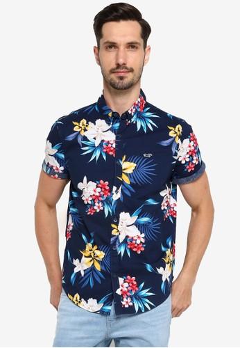 Hollister navy Slim Shirt 31229AA734D700GS_1