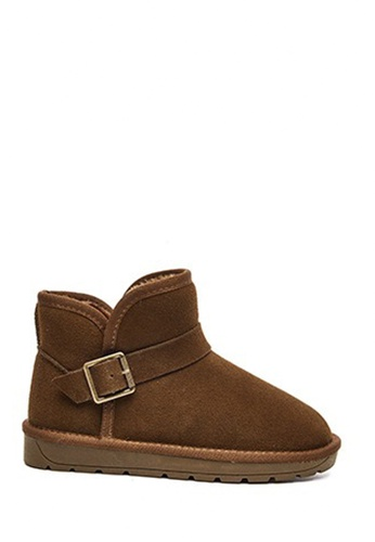 Twenty Eight Shoes brown Cow Suede Buckle Winter Boot VC5898 A0AF4SHF8DCBFEGS_1