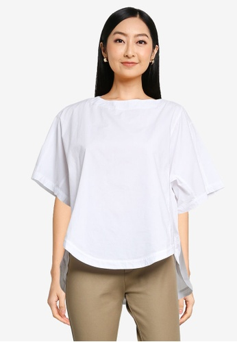 niko and ... white Sleeveless Pleated Top 25C81AADCC3A85GS_1