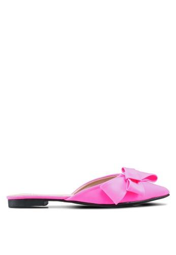 Nose pink Bow Flat Mules 023F3SH2A0DA2AGS_1