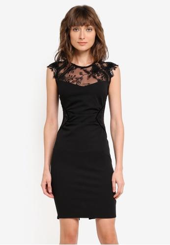 Lipsy black Sequin Yoke Bodycon Dress LI571AA0SR7YMY_1