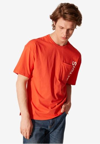 LC Waikiki orange Boxy Fit Letter Printed T-Shirt 12897AA95020ACGS_1