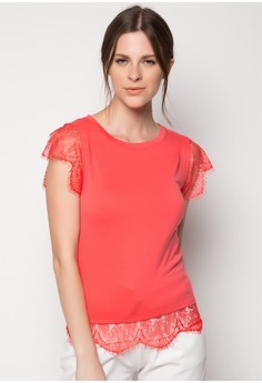 Lace Detail Knit Tee
