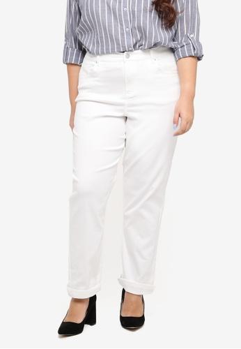 Dorothy Perkins white Plus Size Boyfriend Washed Jeans AD042AAEB3C4EDGS_1