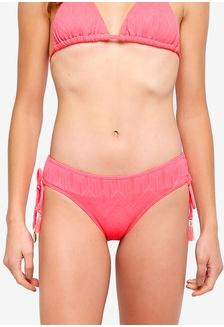 82f0f0943c0eb Textured Adjustable Side Bikini Bottom EEAE2US22EB699GS 1
