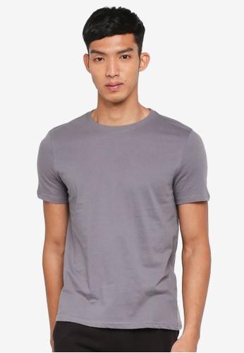 OVS 灰色 短袖素色T恤 FD098AADD36F8EGS_1