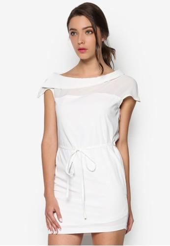 船領造型繫帶直筒洋裝, 韓esprit門市地址系時尚