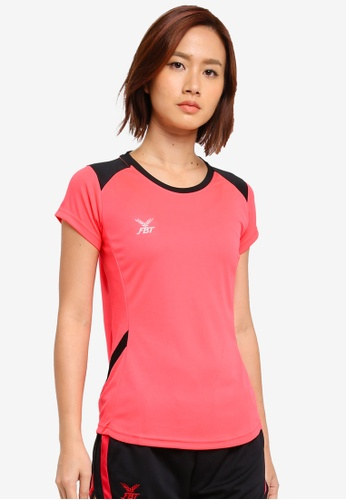 FBT black and pink Sports Tee 1BAB2AA5022C9EGS_1
