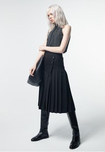 iROO black Pleated Skirt 1A896AAA923B79GS_1