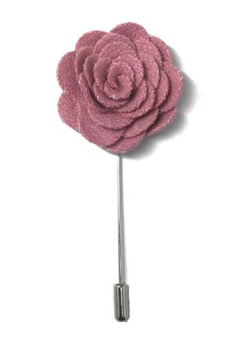 Splice Cufflinks pink Pink Classic Camellia Fabric Flower Lapel Pin SP744AC55UCQSG_1
