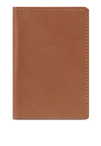Miajee's Slim vertical bifold card holder Leather handcrafted - Coffee 48FA7ACFA86C42GS_1