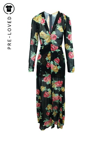 Reformation multi Pre-Loved reformation Elegant Long V-neck Floral Dress 36704AAE63564FGS_1