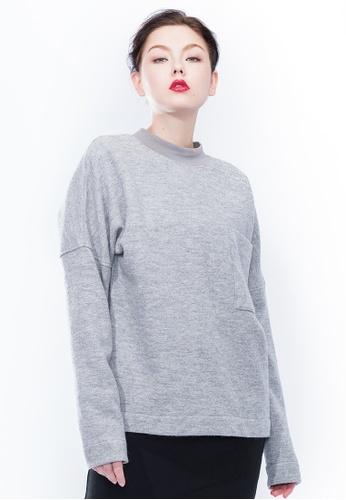 Alpha Style grey James BF Boiled Wool Sweatshirt AL461AA0GYGQSG_1