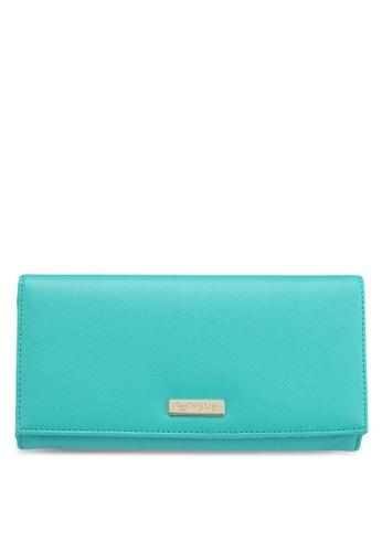 Perllini&Mel green Faux Leather Long Wallet 780A0ACC60D7E9GS_1