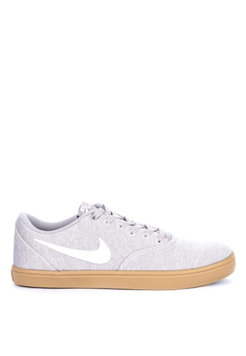 online store 56ad5 4718a Nike grey Men s Nike Sb Check Solarsoft Canvas Premium Skateboarding Shoes  C46CCSHC2D4B25GS 1