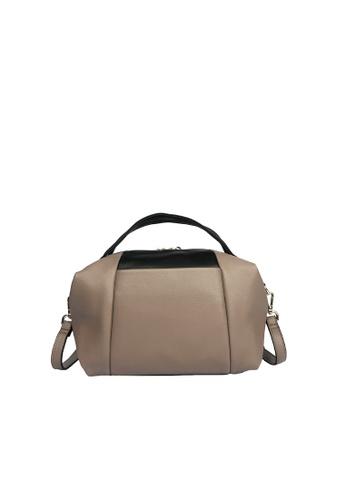 Pierre Cardin brown Pierre Cardin Premium Medium Boston Bag 99DA2ACCBC6670GS_1