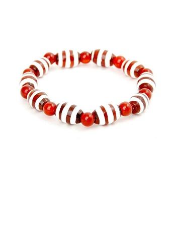 Glamorousky red Lucky Dzi Bead Bracelet (8x12mm) - 3 Lines Beads 39415AC51E9260GS_1