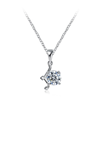 Glamorousky white Fashion Simple Zodiac Sagittarius Pendant with Cubic Zircon and Necklace 34B9EAC52D2CDCGS_1