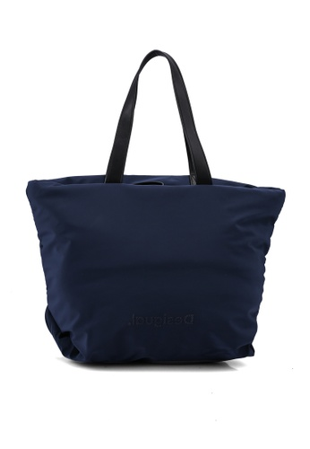 Desigual blue Zip Shopper Bag 3DD9AAC45B8357GS_1