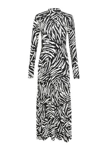 MARKS & SPENCER black Zebra Jersey Maxi Dress 43EC6AA46FEA57GS_1