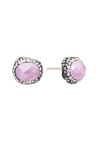 Fervor Montreal pink Fervor Montreal-Druzy Earrings Oval C9F54AC338EC08GS_1