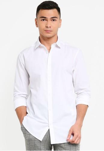 Only & Sons white Luis Basic Poplin Shirt FA18FAA195873DGS_1