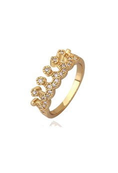Mishca 18K Gold Plated Ring Size 7
