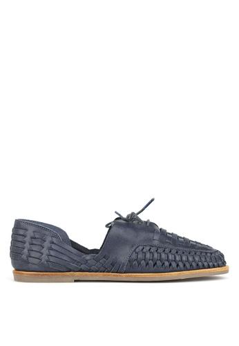 Betts navy Chain Leather Huarache Shoes 903BCSH2D45AF7GS_1