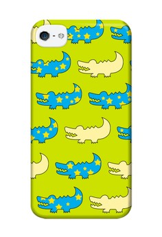 Gator Green and Blue Hard Case for iPhone 4, iPhone 4s