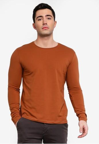 OVS brown Long Sleeve Jersey T-Shirt FBC46AA3BA5579GS_1