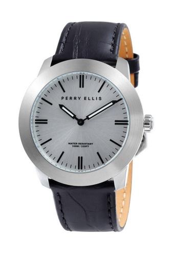 PERRY ELLIS black Perry Ellis Slim Line Unisex 42mm Quartz Watch 07013-01 DB96AACB0DC7D4GS_1