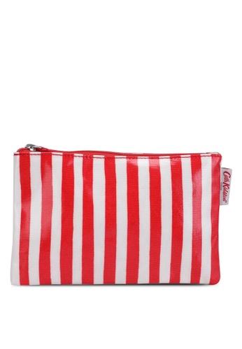 Cath Kidston red Candy Stripe Zip Purse A22B8AC09E12FCGS_1
