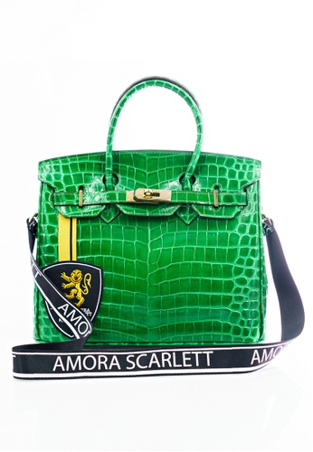 Amora Scarlett green Janey Green Croc Skin 30' ( Medium ) With Strap AM058AC0SY13MY_1