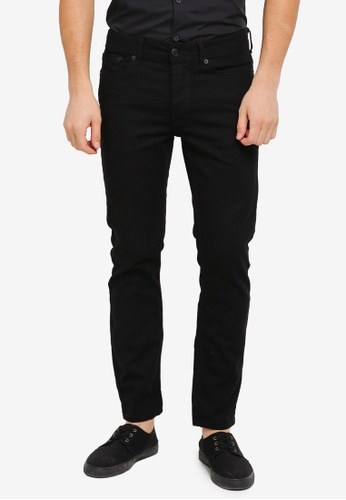 Burton Menswear London black Black Tyler Stretch Skinny Jeans BU964AA0T1GRMY_1
