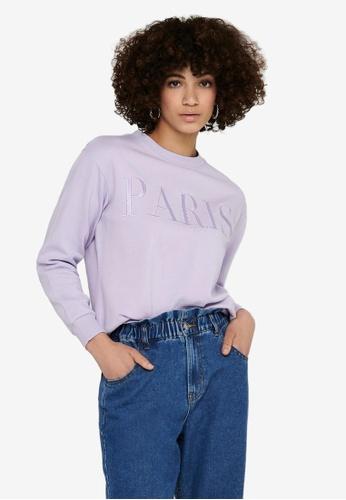 JACQUELINE DE YONG purple Paris Life Sweater F7315AA22B4BAEGS_1